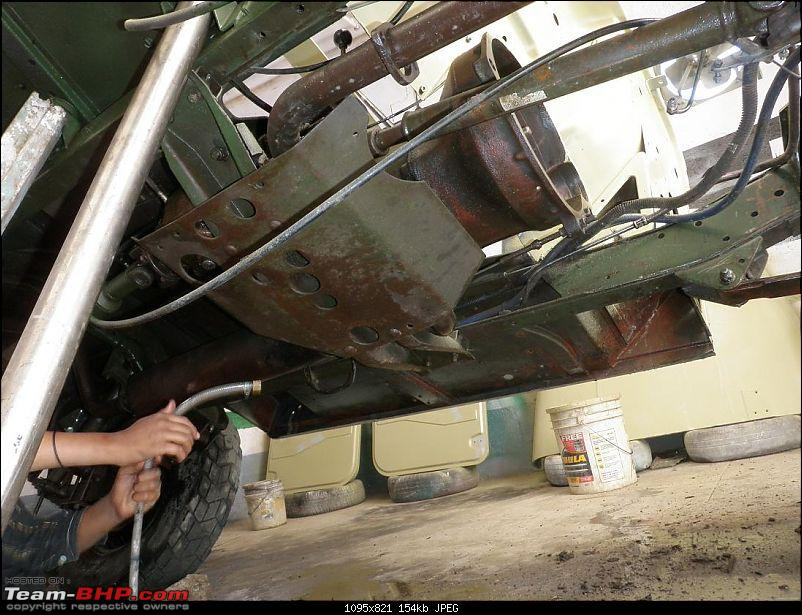 """It's a 'Jeep' Thing!"""" - Army Spec MM550 - Restoration in Bangalore - PHASE 1 COMPLETE-p1300814.jpg"""