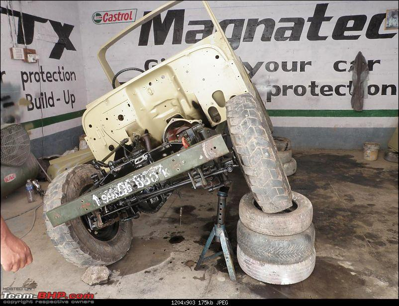 """It's a 'Jeep' Thing!"""" - Army Spec MM550 - Restoration in Bangalore - PHASE 1 COMPLETE-p1300862.jpg"""