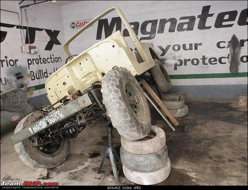"""It's a 'Jeep' Thing!"""" - Army Spec MM550 - Restoration in Bangalore - PHASE 1 COMPLETE-p1300879.jpg"""