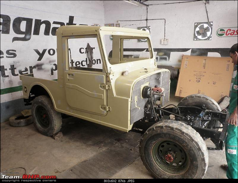 """It's a 'Jeep' Thing!"""" - Army Spec MM550 - Restoration in Bangalore - PHASE 1 COMPLETE-p2010623.jpg"""