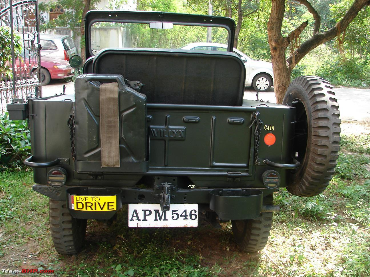 willys cj3a restored in hyderabad team bhp. Black Bedroom Furniture Sets. Home Design Ideas