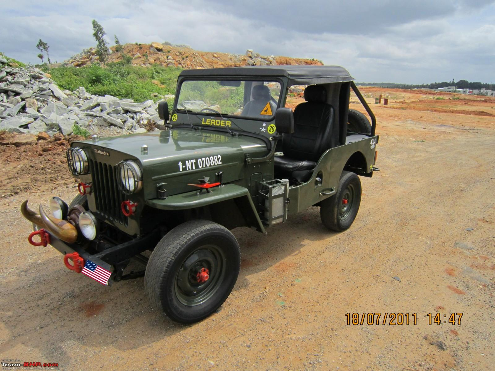 1988 mahindra cj 500d 4wd diesel jeep team bhp for Jeep with diesel motor