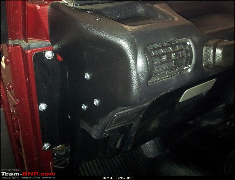 Updated Mahindra Thar in 2-3 months. EDIT : Launched with Air-Con and immobilizer!-thar-lhs-dashboard.jpg