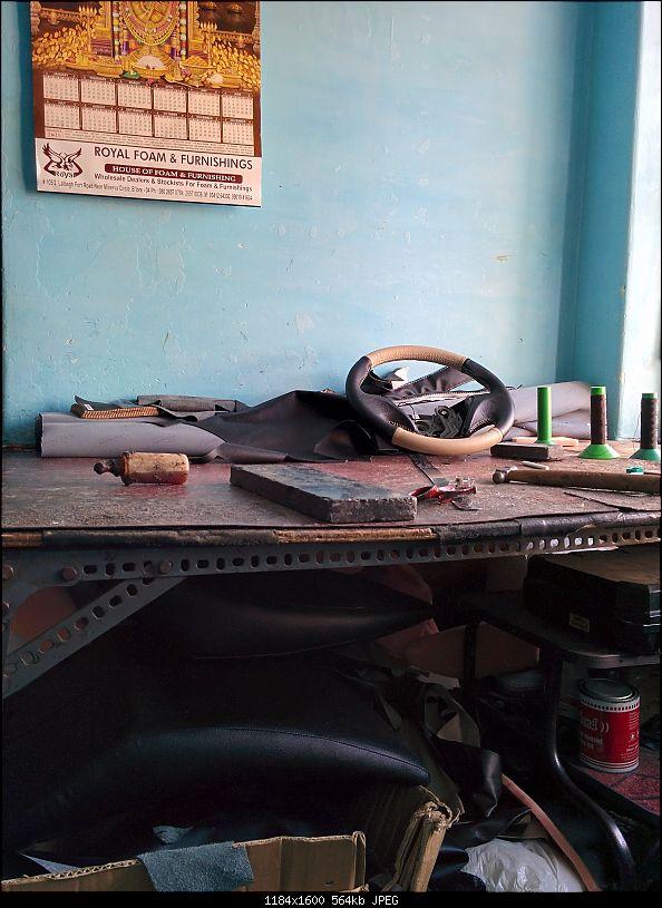 Leather Upholstery & Steering Grips: Devraj / Karthik Leather Arts (Bangalore)-img_20150124_161301.jpg