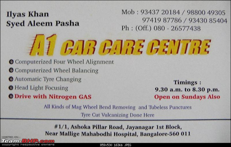 Alloy wheel repair + Balancing + Alignment : A1 Car Care Centre (Bangalore)-dsc05518.jpg