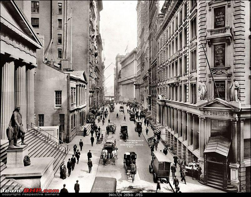 Old pictures of Vintage and Classic Cars beyond our borders-wall-street-new-york-1911.jpg