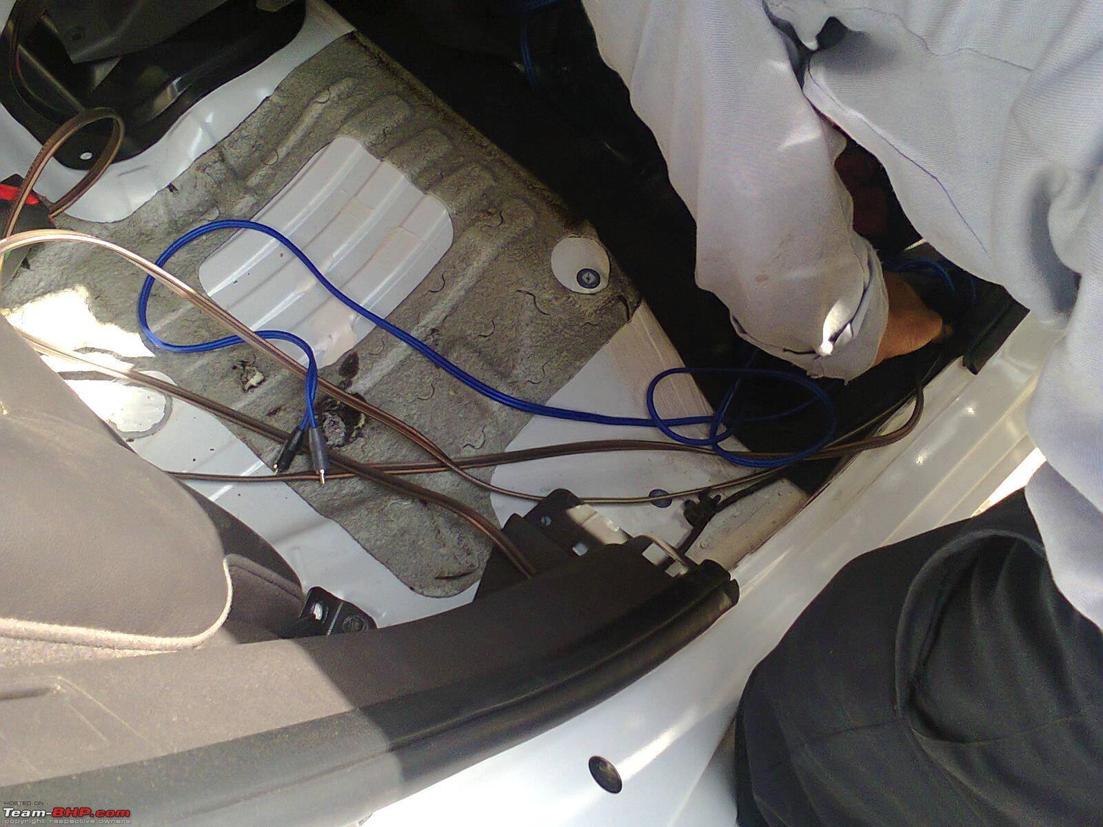 White Hyundai I20 Gets Major Ice Upgrade Team Bhp Electrical Wiring Photo0021