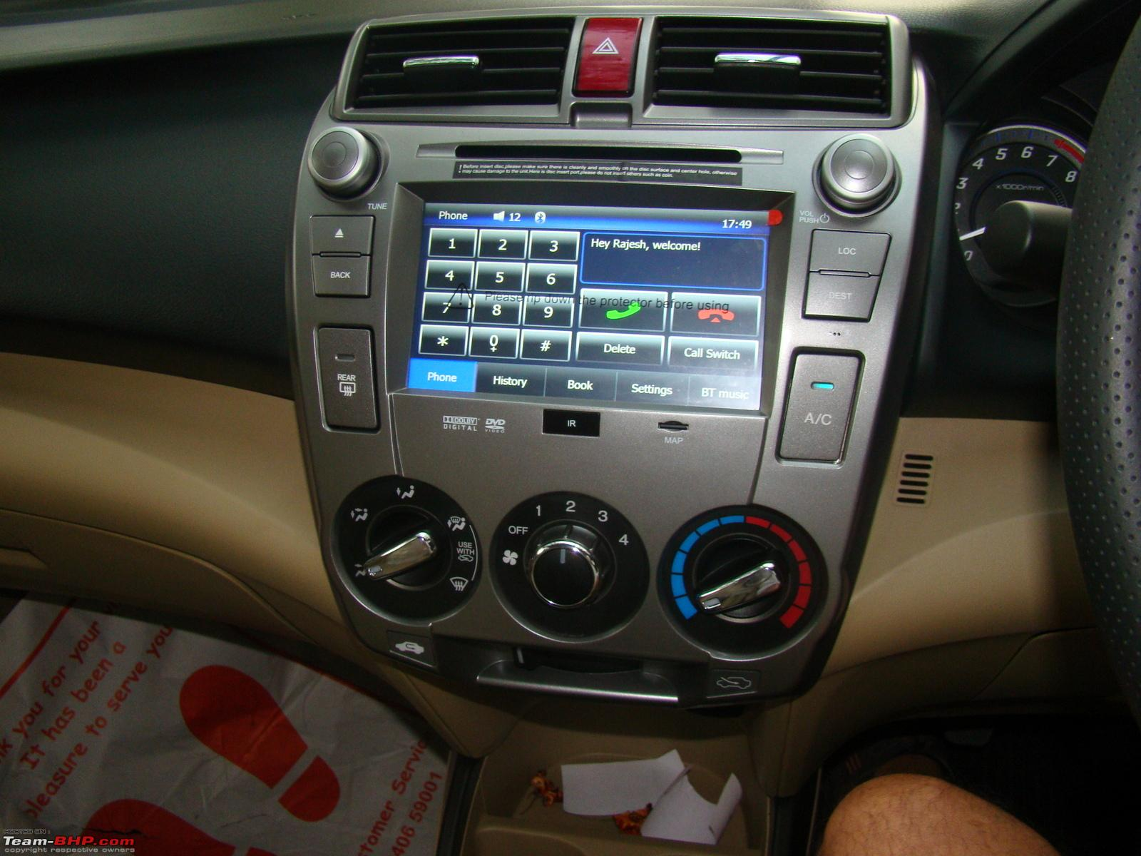 Honda city a close look at the factory fitted audio video navigation