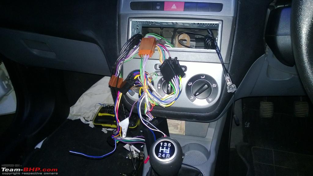 diy solution: fiat punto after-market stereo + steering mounted  controls-cables