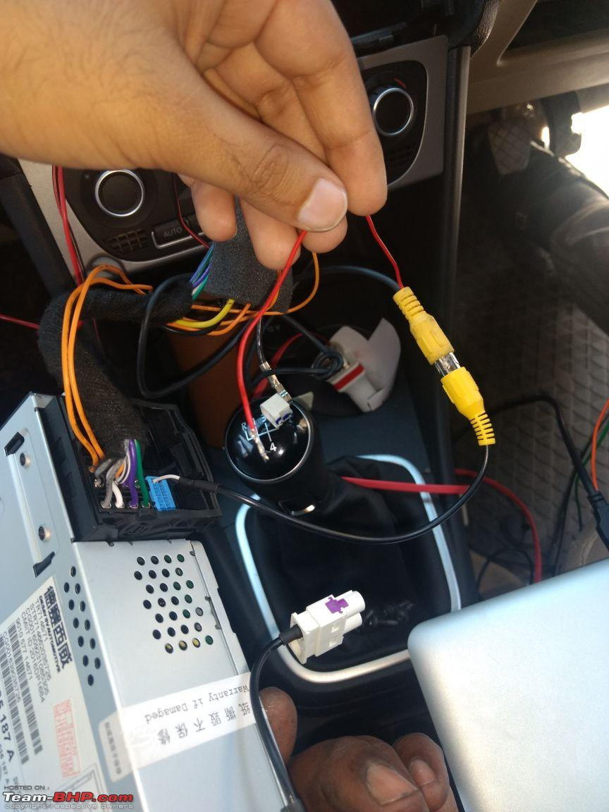 Vw Polo Vento Replaced Stock Rcd320 With Rcd330 Plus Rear View Wiring Camera Installation