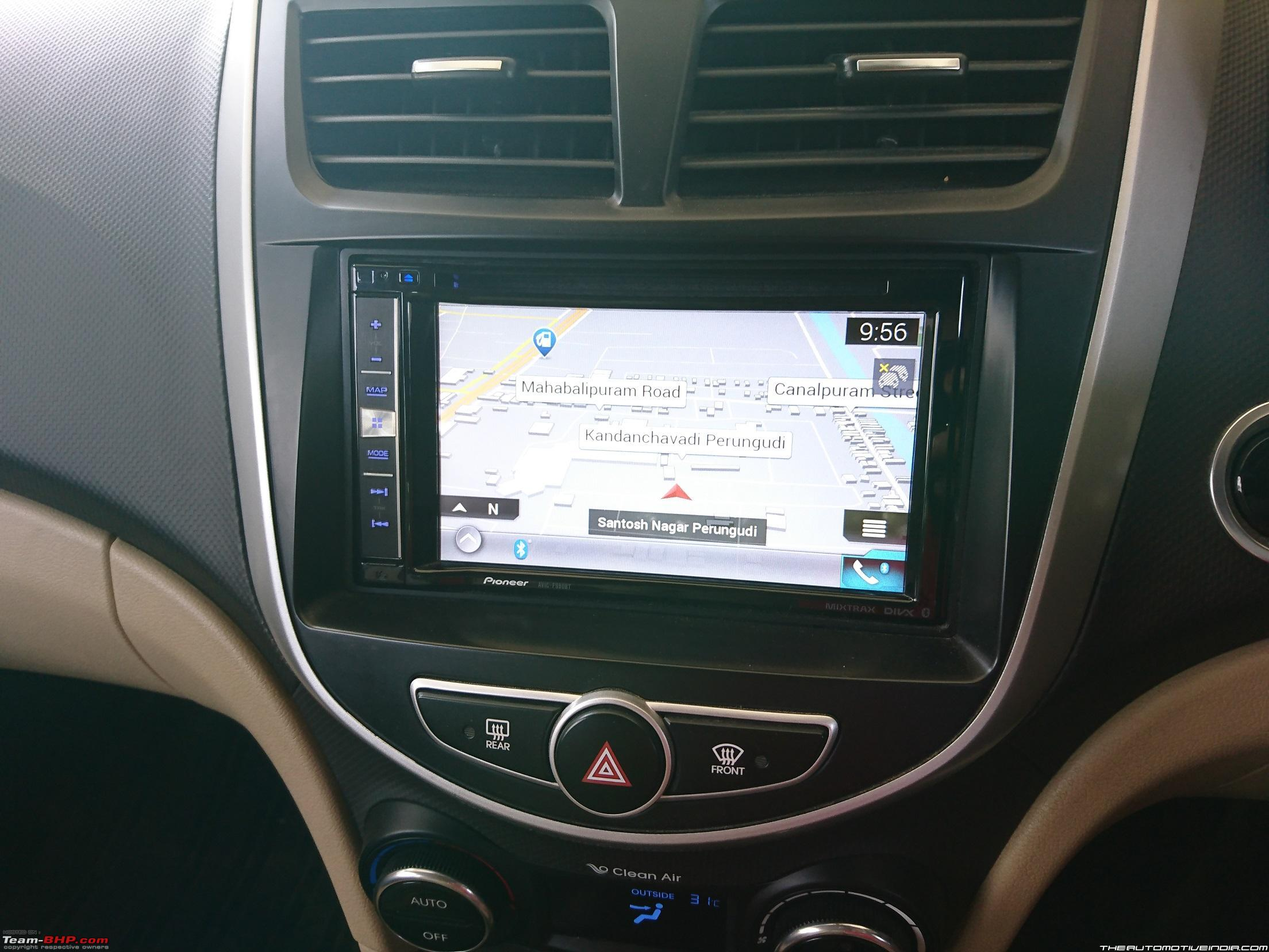 Hyundai Fluidic Verna Upgraded To Oem Head Unit With Touchscreen Pioneer Car Stereo Wiring Harness Diagram Further Radio Navigation More