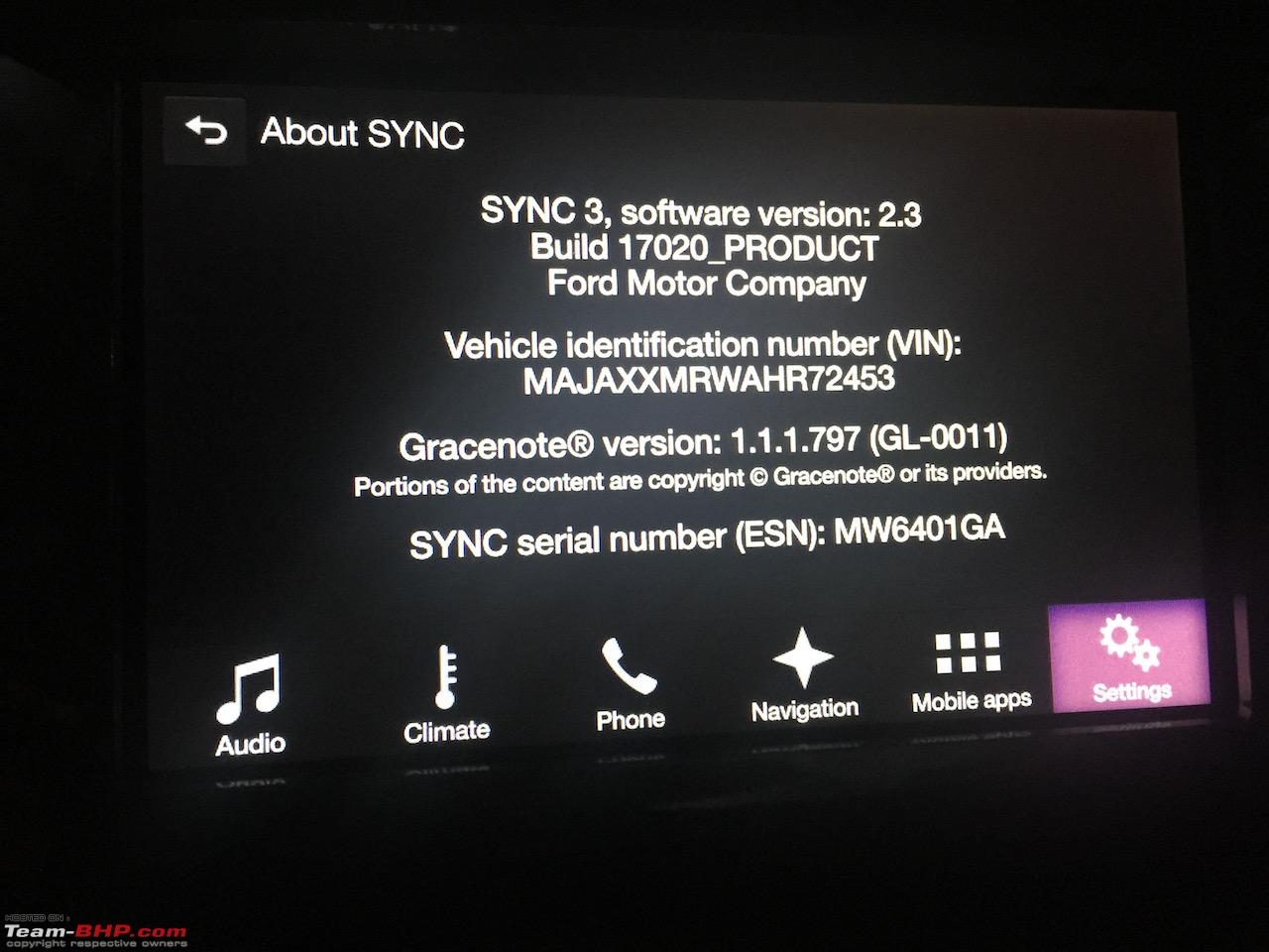 Ford Endeavour Diy Sync 3 Update V2 2 To 2 3 Team Bhp