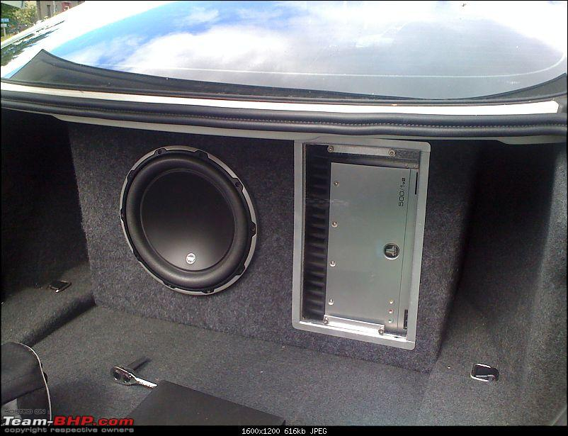 BMW 635d - Sound deadening ( Dyna-matting ) and new sub-woofer and amp.-photo.jpg