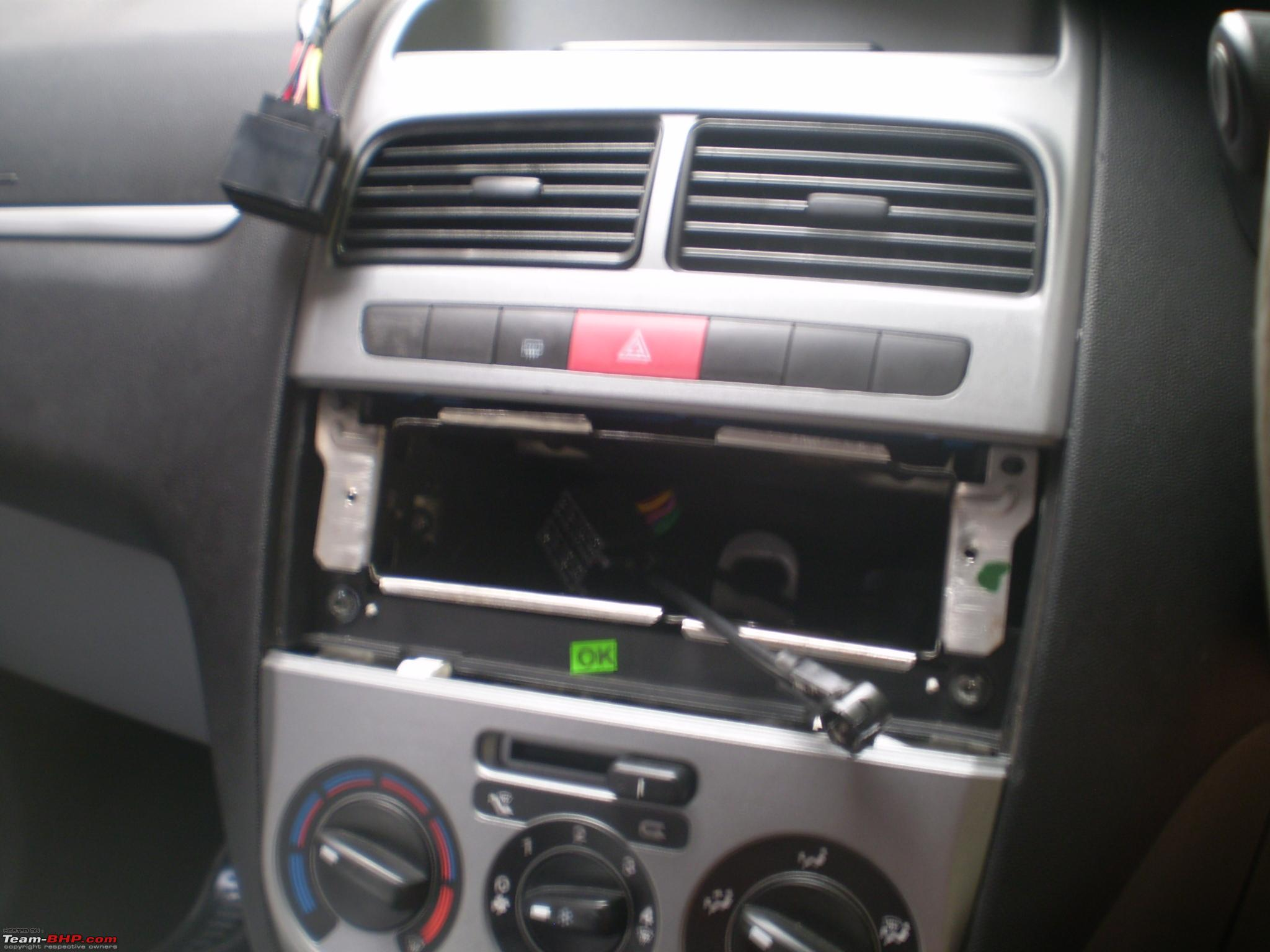 Pics Details Upgraded My Punto Headunit Team Bhp Fiat Grande Fuse Box Cover P3120187