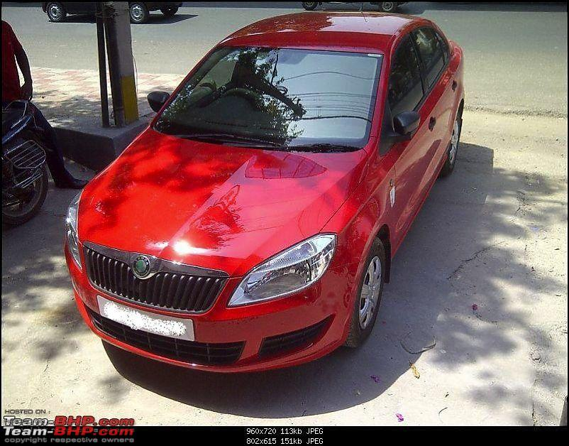 A red hot rapid install in a red hot (Skoda) Rapid-2.jpg