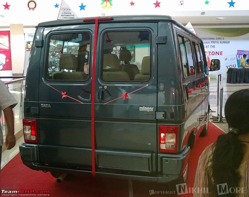 Test driven tata winger platinum team bhp - Commercial van interiors locations ...