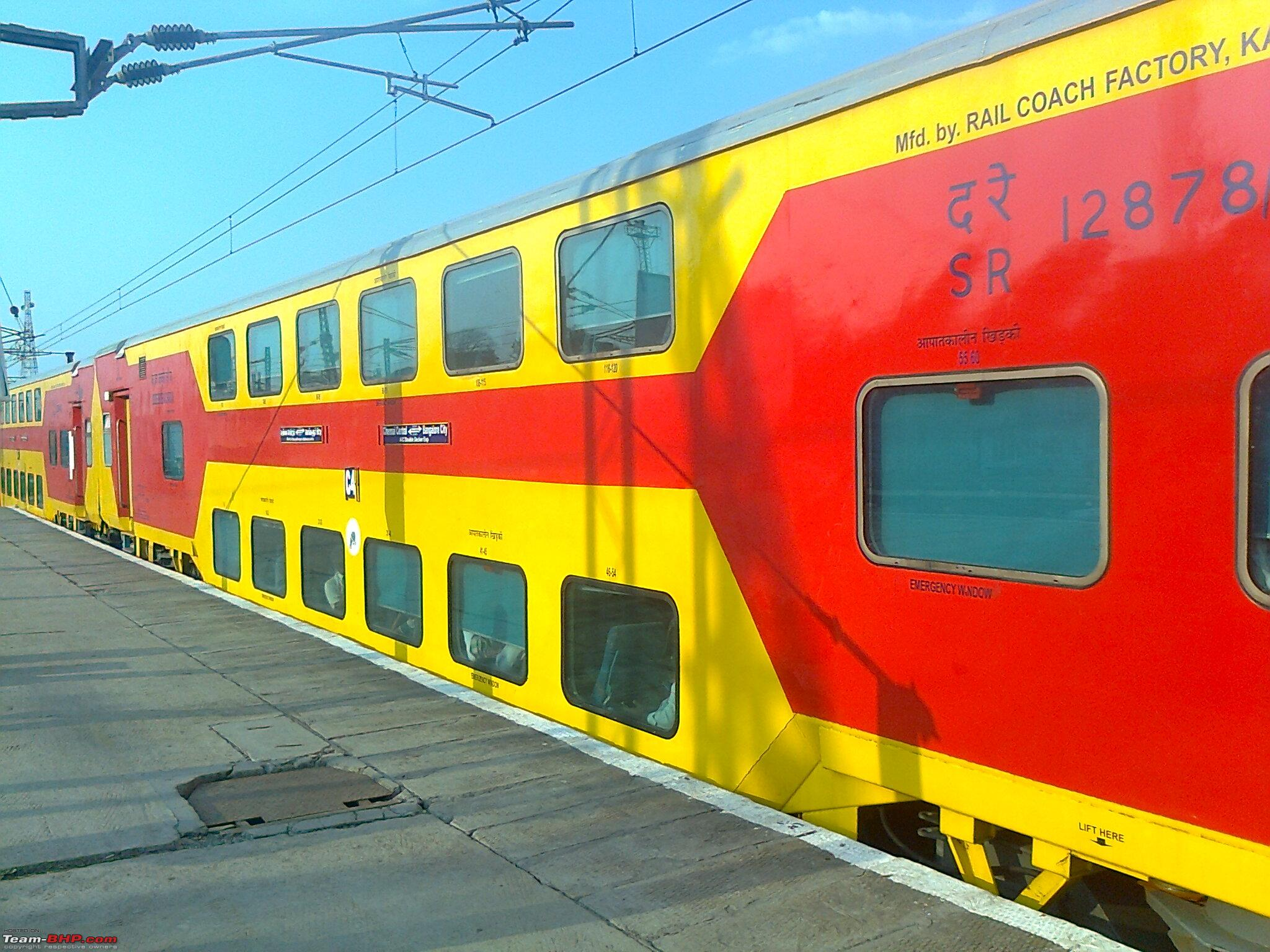 My Experience With The Chennai Bangalore Double Decker Train