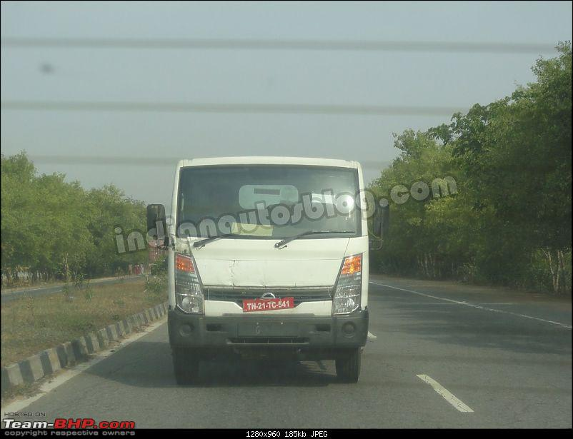 SCOOP : Nissan Commercial Vehicle spotted testing EDIT : Now as Ashok Leyland-ashokleylandpartnerspiedchennaifront.jpg