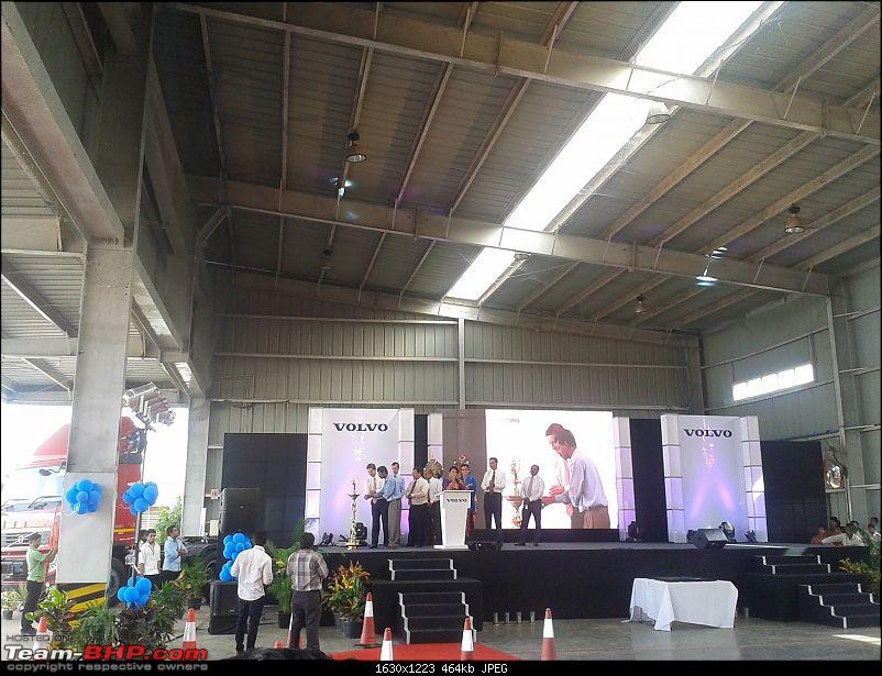Report: Volvo India's 15th Anniversary celebrations @ the Bangalore Factory-leaders_arrive.jpg