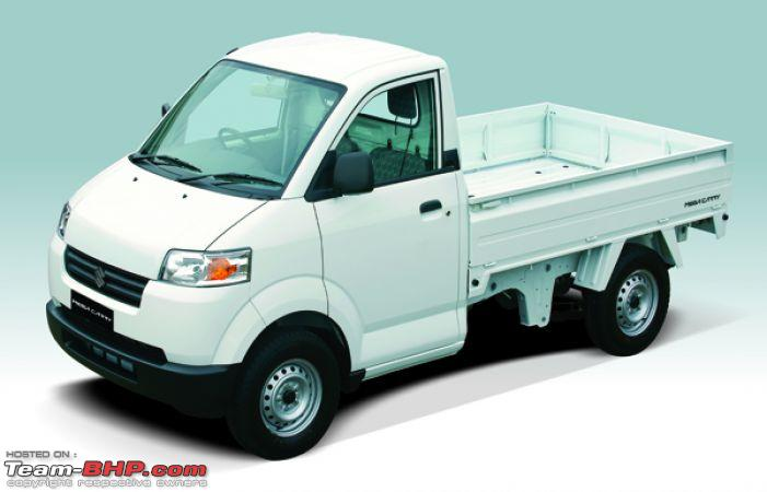 Maruti Suzuki S Mini Pick Up Truck Plans Team Bhp