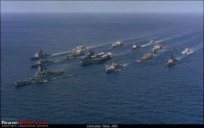 Indian Navy - A Shipbuilders Navy: INS Nilgiri, INS Godavari & INS Brahmaputra-battle_group_alpha_midway_iowa_underway_1987.jpg