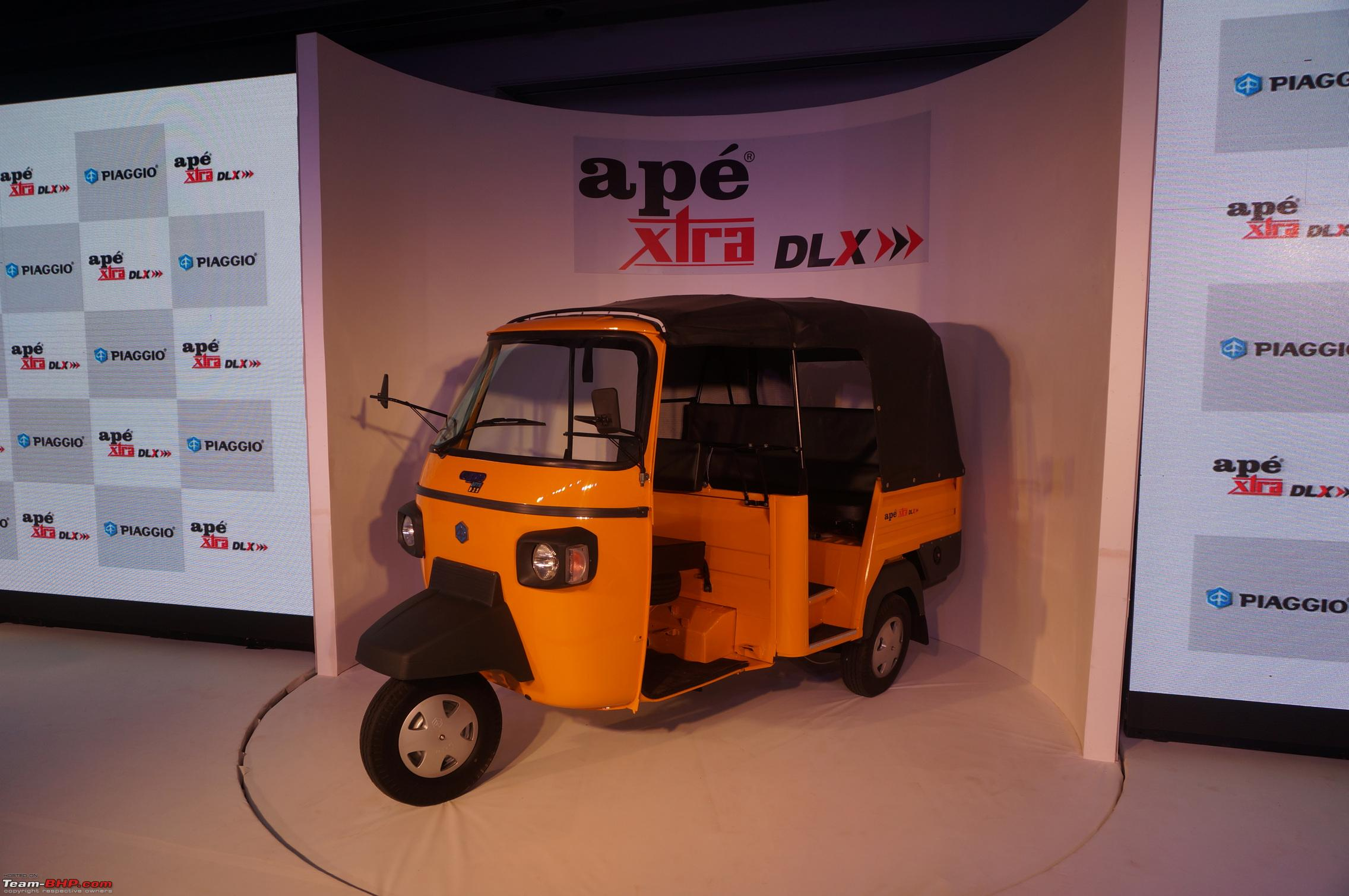 Piaggio Ape Xtra Dlx Launched Rs 1 74 Lakh Team Bhp