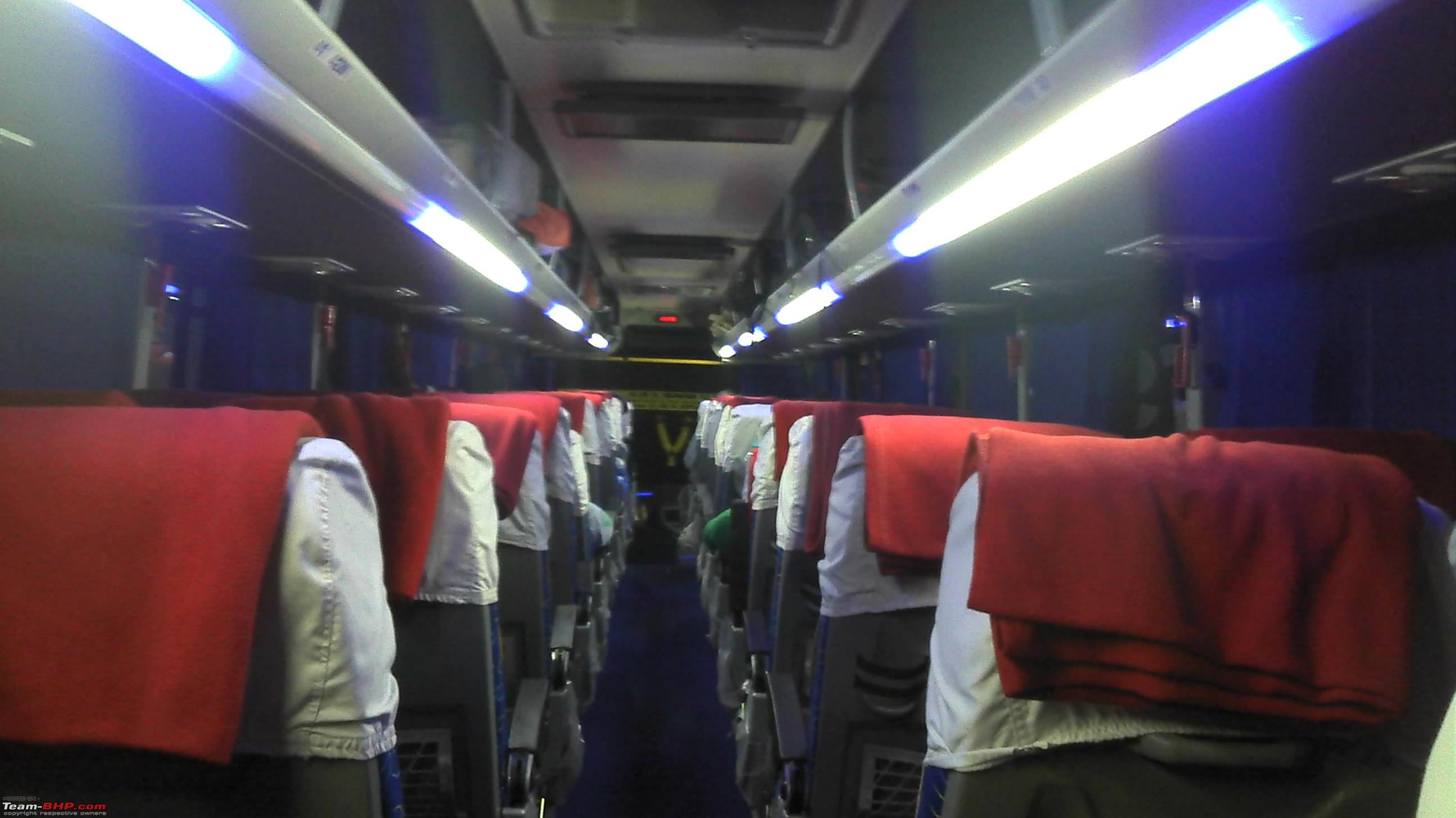Volvo luxury bus interior - Intercity Bus Travel Reviews Interior Jpg