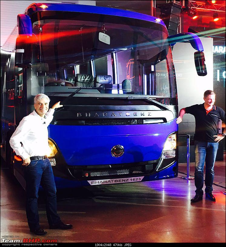 Bharat Benz launches new intercity bus, the 16T-bus1.jpg