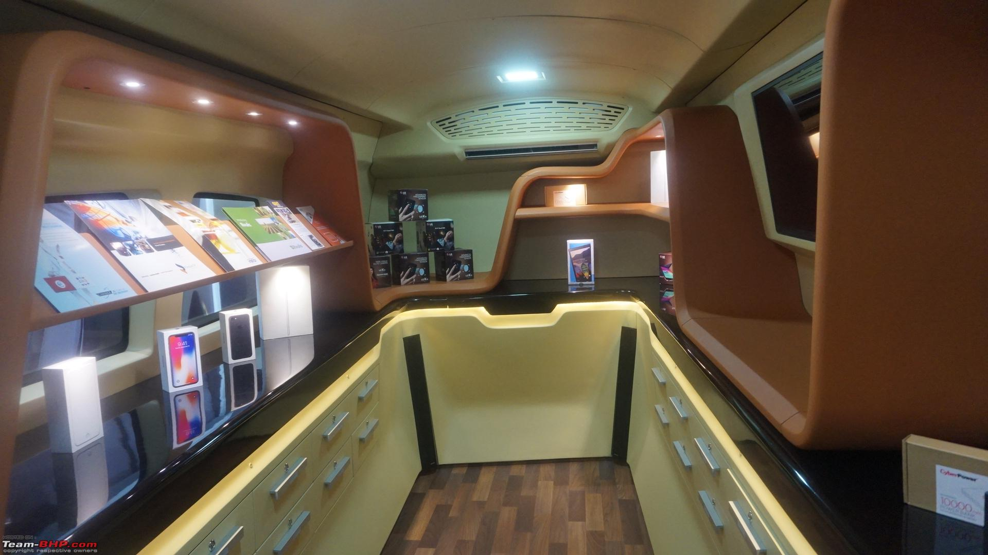 luxury motorhome pinnacle speciality vehicles auto expo 2018 team bhp. Black Bedroom Furniture Sets. Home Design Ideas