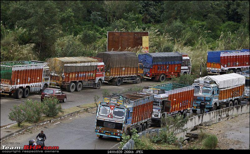 The plight of Indian Truckers-line_up_strike.jpg