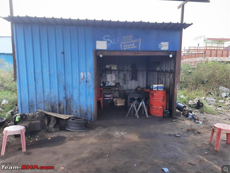 A rare Tata 407 4x4 | 1300 km road trip-garage.jpg