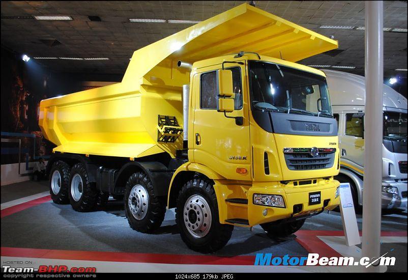 Tata launches the Prima Construck range in India-yellow_tata_prima_truck.jpg