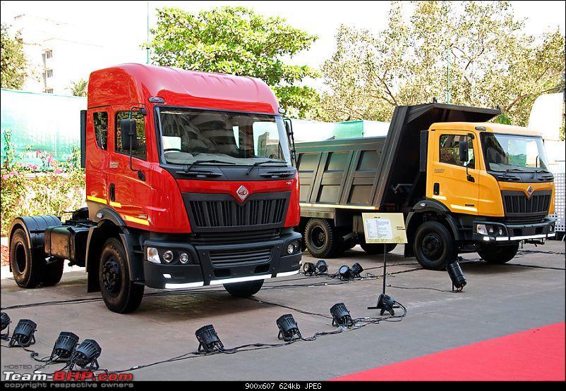 Report & Pics: Mahindra Navistar MN25 Tipper & MN40 Tractor Trailer Launch-bothtrucks.jpg