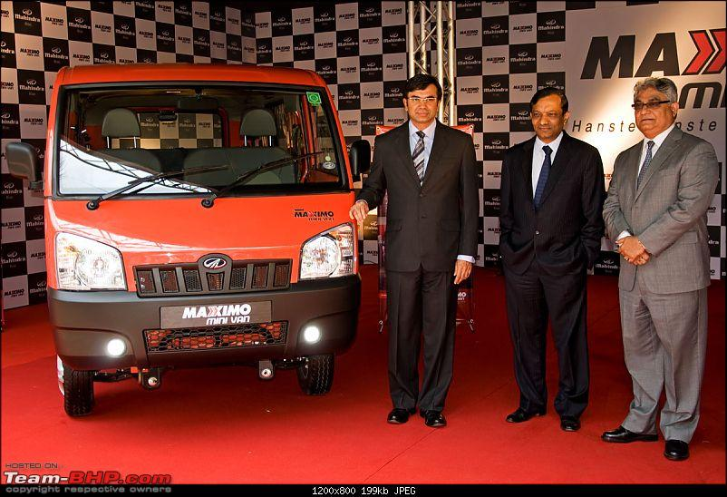 Mahindra Maxximo Mini Van Launched Rs 3 2 Lacs Team Bhp