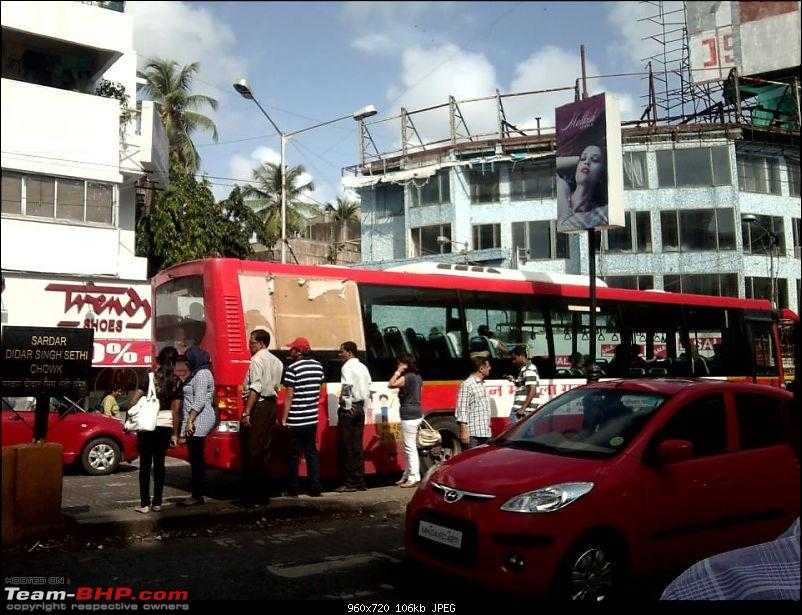 B.E.S.T. buses - Painting Mumbai RED!-427198_455934544451542_710832188_n.jpg <br /> Photo not by me. It was shared on a FB group. Credits to the original photographer.</div>   <div style=