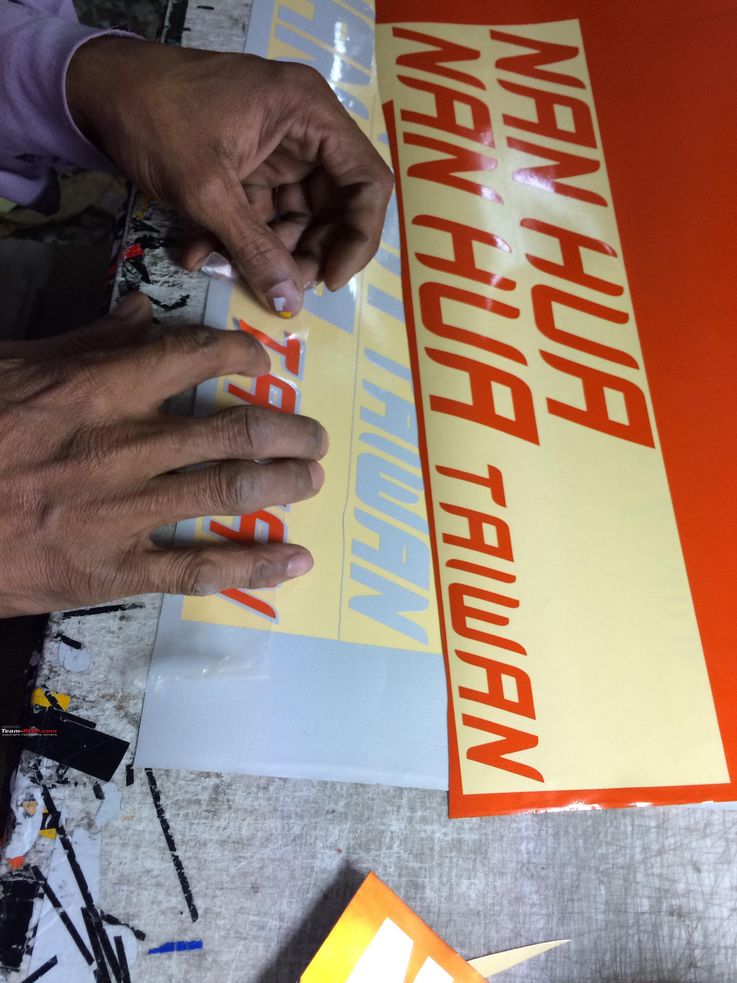 Car sticker maker in delhi - Number Plates And Stickers Tarun Cars Lajpat Nagar Delhi Photo