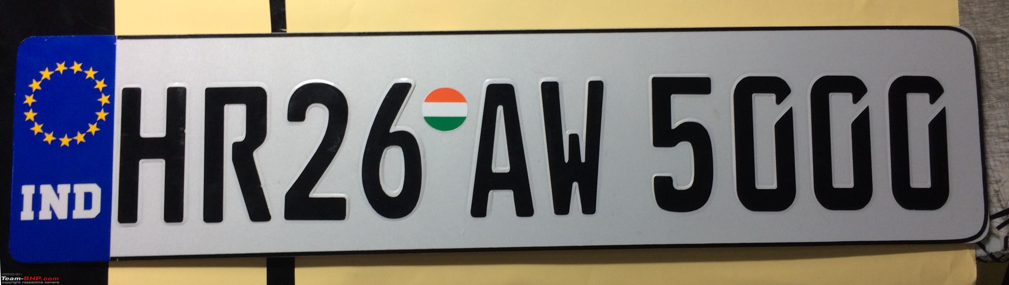 D Number Plates Stickers
