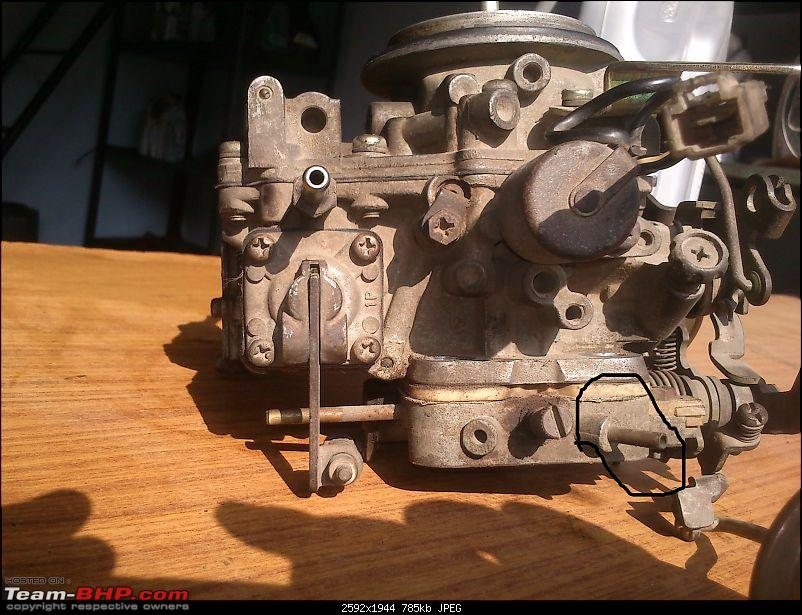 DIY : Great way to use a Sunday Part I - Carb Cleaning of Maruti 800-carb_back.jpg