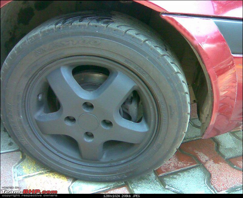 DIY: Matte black- Alloys, Calipers, Bumper trims on the 1.6 Ikon.-image051.jpg