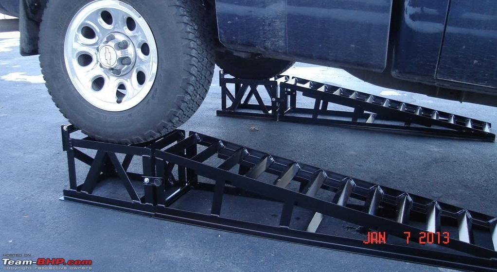 Diy inexpensive home made car ramps team bhp diy inexpensive home made car ramps metal rampg malvernweather Images
