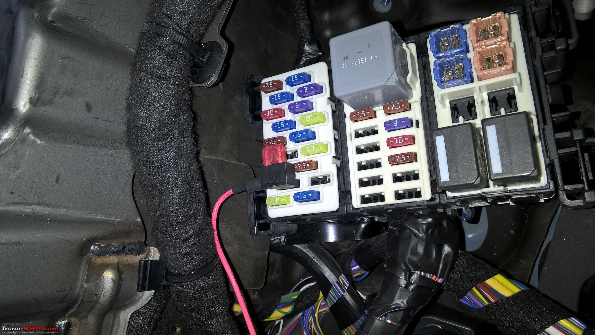 Diy Hardwiring Your Dashcam Team Bhp A Wiring Into Fuse Box Box Wire Ground  For.fuse