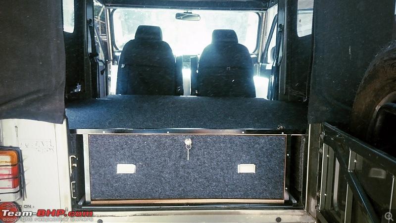 DIY: An overland vehicle on a budget! Storage & sleeping area in a Thar-ready.jpg