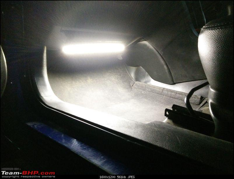 D.I.Y. Install: LED Footwell Lighting-15.-passenger-side-led-glowing-closeup.jpg