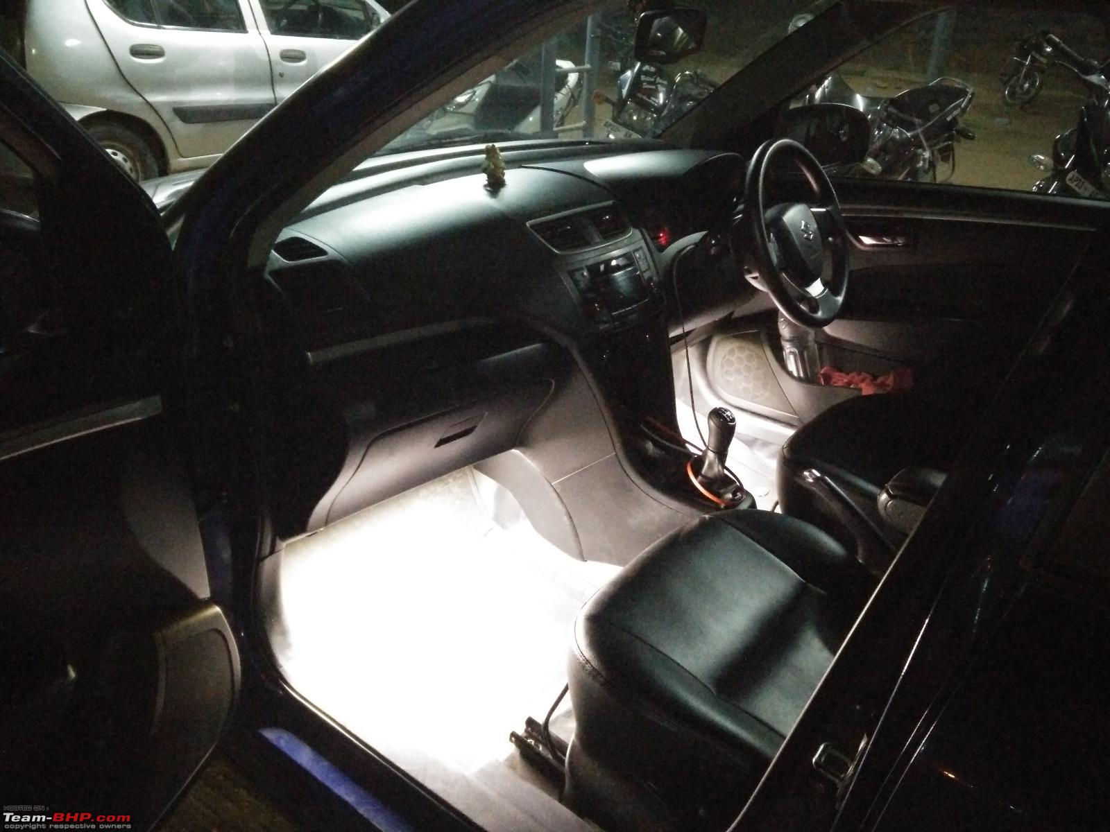 d i y  install  led footwell lighting