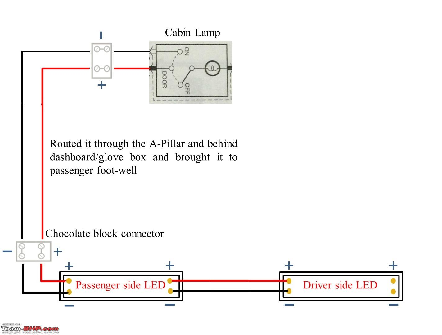 Diy Install Led Footwell Lighting Team Bhp Of Light Circuit Diagram In Addition Dimmer Untitled