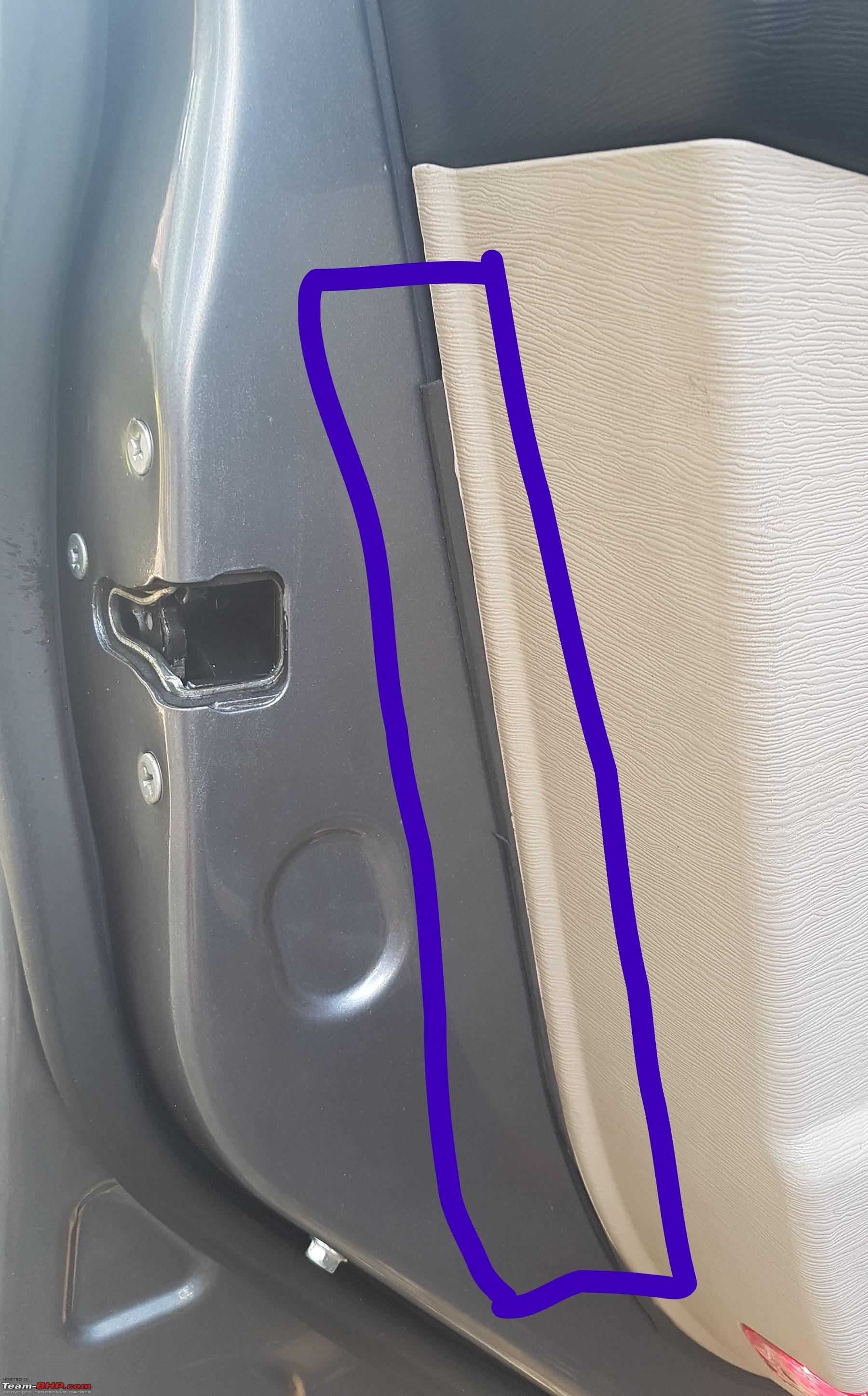 XUV500 DIY: Removing rattles from the door panel - Team-BHP