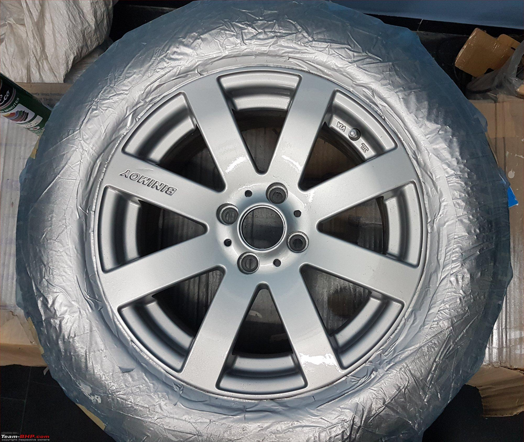 Diy painting alloy wheels with spray cans team bhp diy painting alloy wheels with spray cans clearg solutioingenieria Images