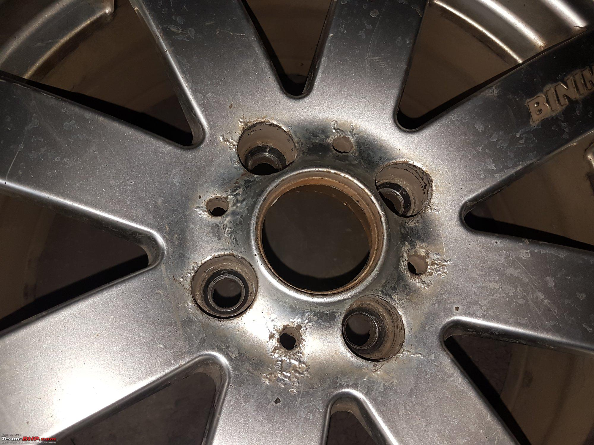 Alloy Wheel Paint Used Car Before Clear