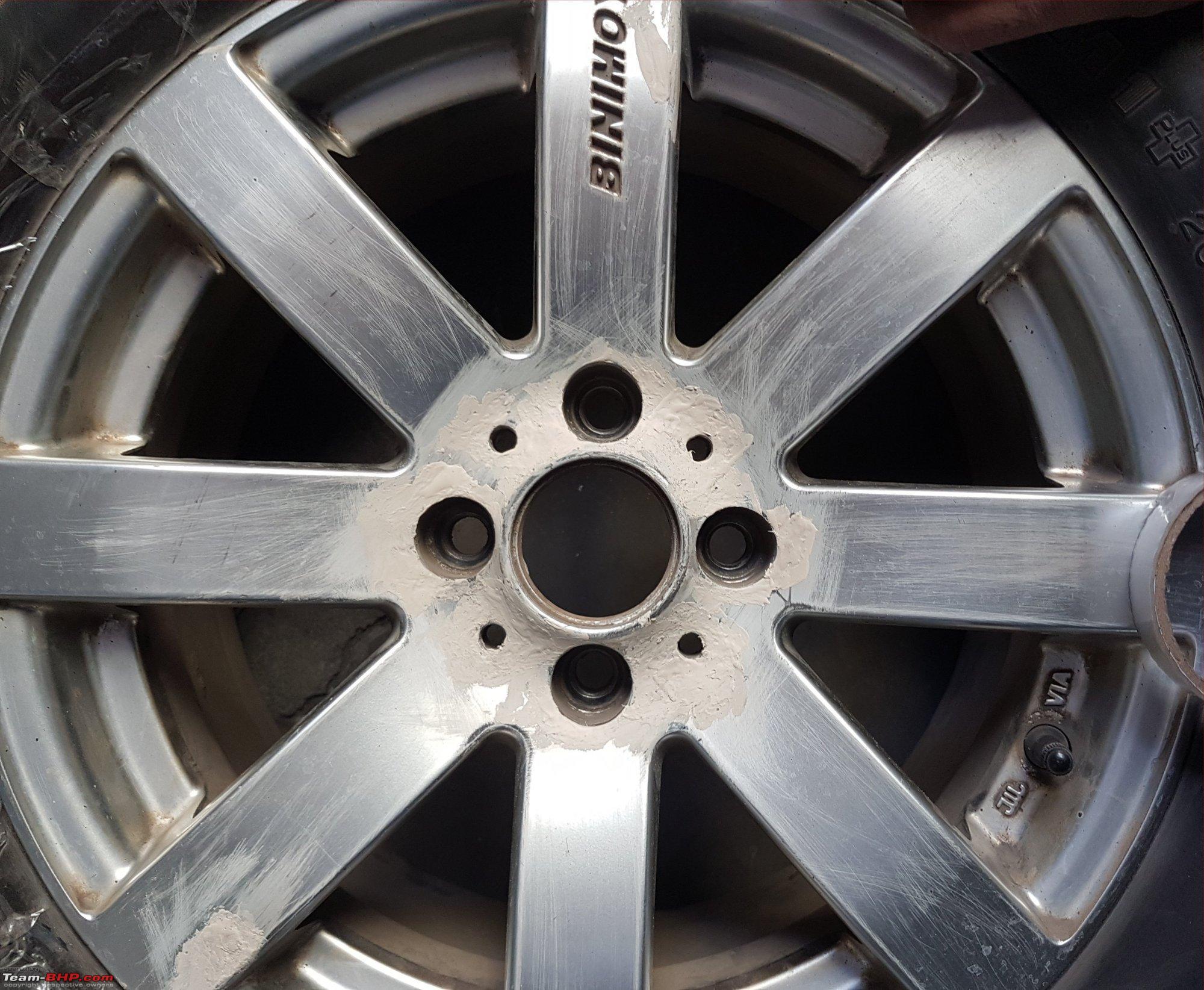 Diy painting alloy wheels with spray cans team bhp diy painting alloy wheels with spray cans filledg solutioingenieria Choice Image