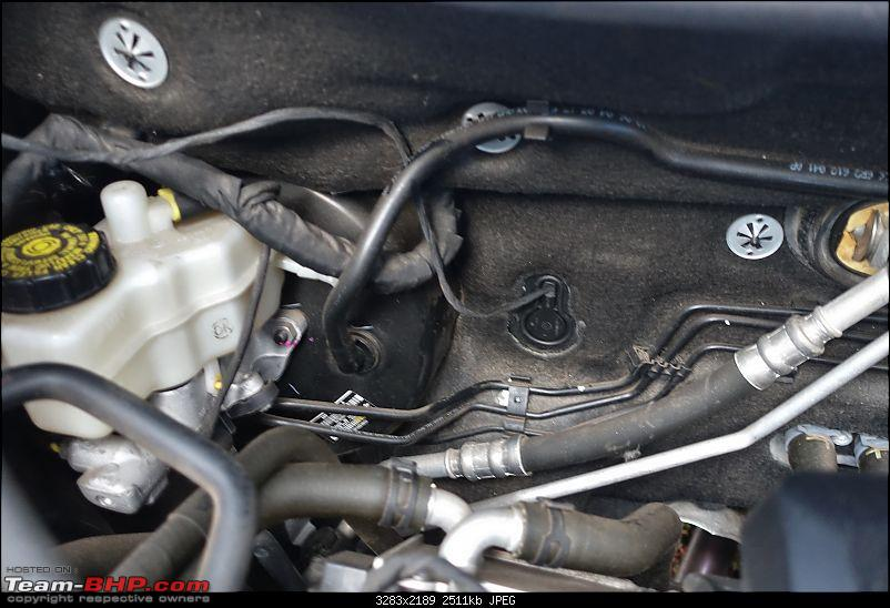 Polo GT TSi Install: OEM Bi-Xenons with BCM Max Upgrade EDIT: 6C RLS + Auto-dimming IRVM installed!-wire-through-firewall.jpg